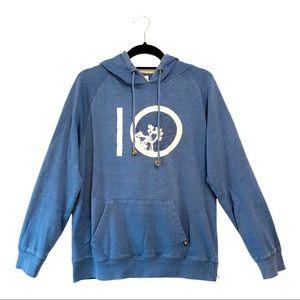 Men's tentree Cotton Hoodie Sweatshirt Blue M